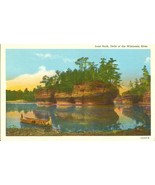 Lone Rock, Dells of the Wisconsin River, 1920s unused Postcard  - $4.99