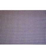 Cotton Fabric Purple Gingham - $10.00
