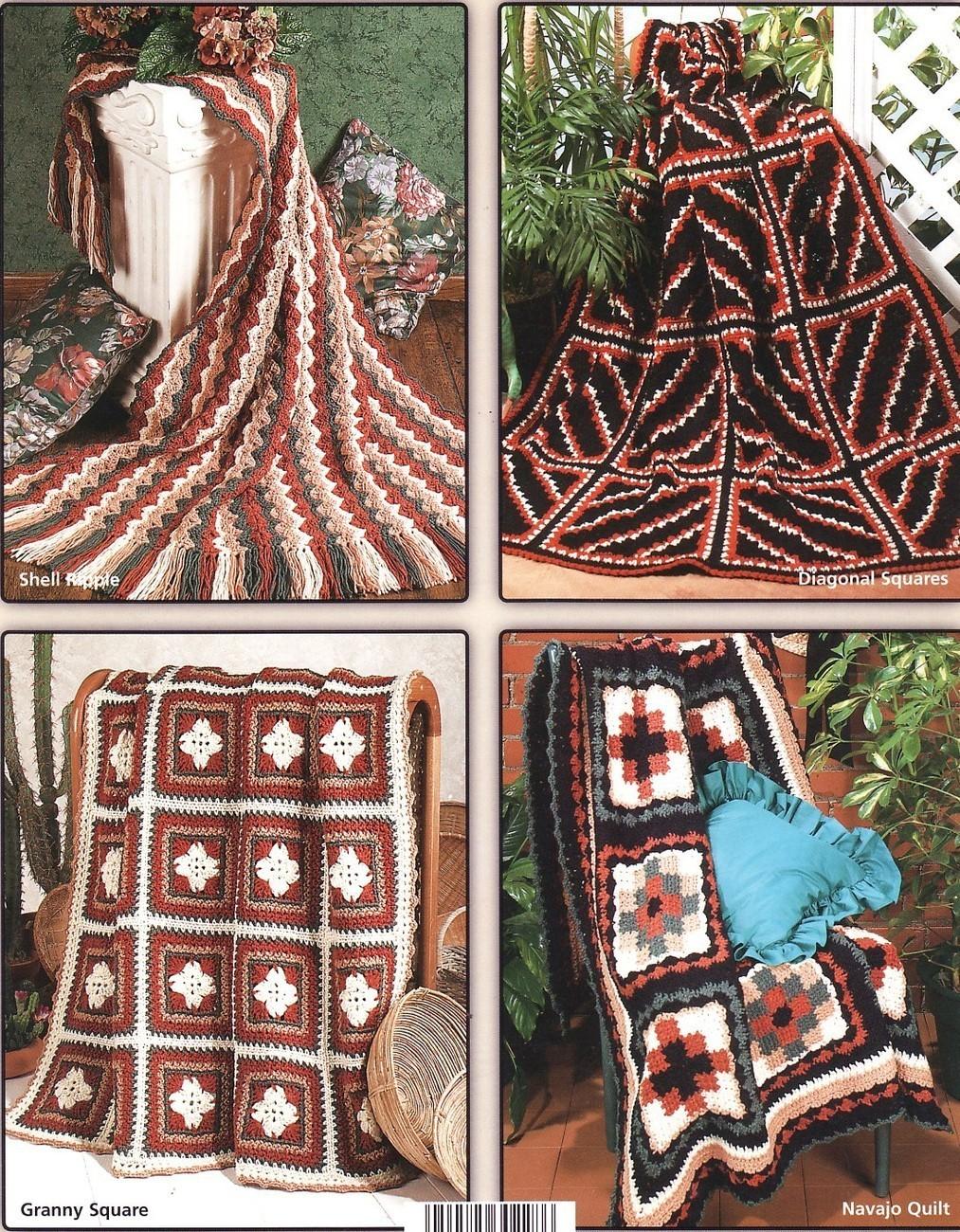 Free Crochet Pattern Navajo Afghan : Navajo Afghans Crochet Patterns Book Indian Blankets 6 ...