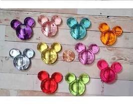 12 PCS Acrylic Minnie & Mickey Chunky Resin Beads-Jewelry Accessory Part... - $9.99