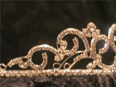 STERLING SILVER PLATED AUSTRIAN CRYSTAL RHINESTONE BRIDAL PAGEANT TIARA