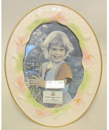 """Pink Calla Lily Photo Frame Porcelain and Gilded 5"""" x 7"""" - $40.09"""