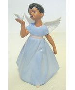 African American Child Angel Figurine with Dove - $44.54