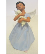 African American Child Angel Figurine with Lamb AS IS - $44.54