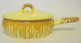 Yellow Drip Glazed Frying Pan Enamel Tomeoni Brothers, CA - $111.37