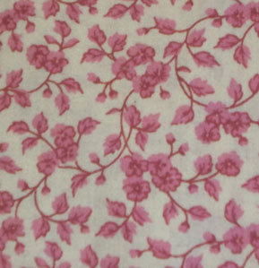 Cotton Fabric Rose and Off White - Fabric