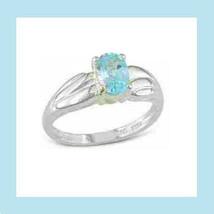 0.85CT Genuine BLUE TOPAZ Gemstone Oval STERLING SILVER Ring - $49.99
