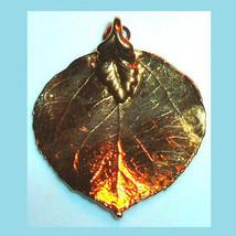 24K Yellow Gold Dipped Birch Tree Leaf Pendant - $29.99