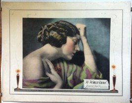 NO WOMAN KNOWS (1921) Directed by Tod Browning Universal Half-Sheet GORG... - $350.00