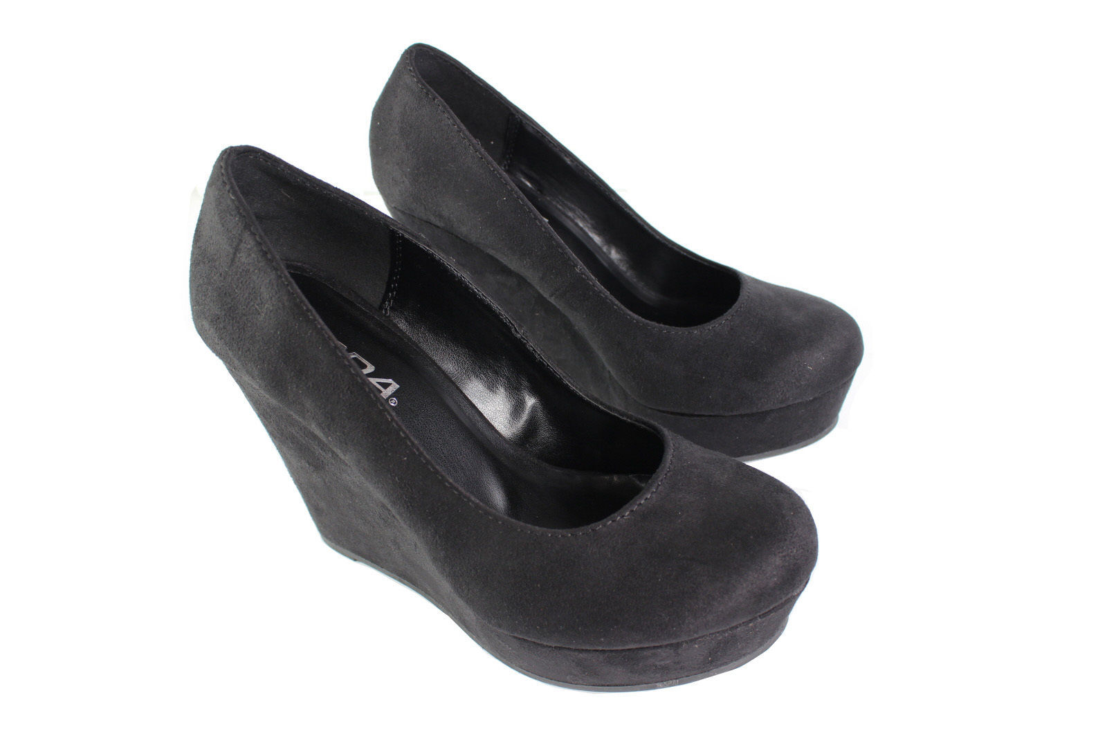 93d0c3bddf4e6 Soda Women s Sexy Platform Wedge SANDAL High Heel Pump Shoes Suede Size  5.5-10 -  24.99
