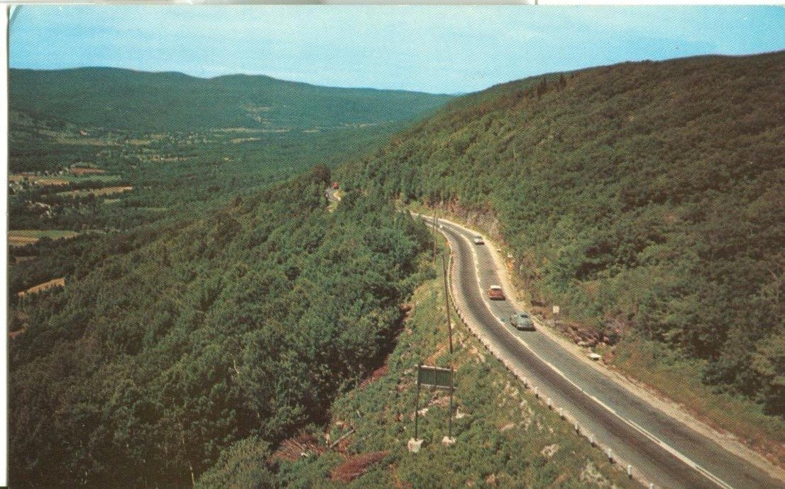 Looking from the Western Summit, Mohawk Trail, unused Postcard