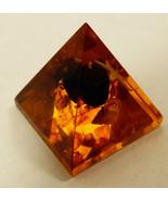 Pyramid figurine Amber shell star inclusions decorative art - $41.58