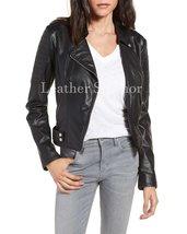 Unique Women Leather Motorcycle Jacket