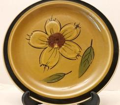 HONEY FLOWERS Stoneware Salad Plate Designer Collection Japan Vintage Ki... - $4.95
