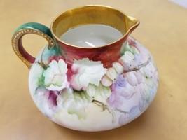 Antique (J EAN Pouyat) J.P.L. France Hand Painted Floral Pitcher - $64.34