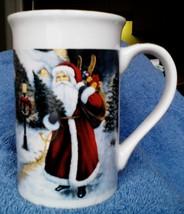 Gently Used Royal Norfolk by Greenbrier International Santa Coffee Cup M... - $2.49