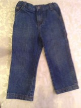 Wrangler jeans carpenter Boys Size 3 Toddler blue denim western rodeo - $12.99