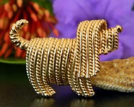 Vintage Napier Komondor Puli Terrier Dog Figural Brooch Pin Gold Tone - $17.95