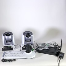 2x Sony BRC-300 MP PTZ with RM-BR300 Joystick Conference Video Camera - $1,361.46