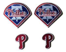 4 Philadelphia Phillies embroidered iron on patches patches  - $8.99