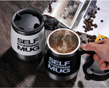 Stainless Steel Automatic Coffee Mixing Cup with Lid Self Stirring Mug Protein S
