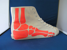Men Fashion Designer Sneaker Boogie Man Bones Acid Red by BE&D Maison Dumain - $49.99