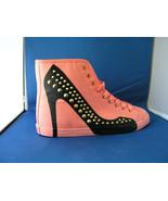 Women FAshion Design Sneaker Hey Stud - Pink Canvas by BE&D Maison Dumain - $49.99