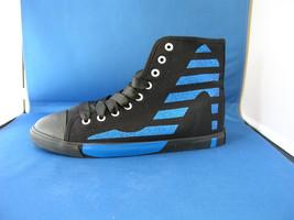Women FAshion Design Sneaker STR Black Canvas - Cobalt Sparkle by BE&D M... - $49.99