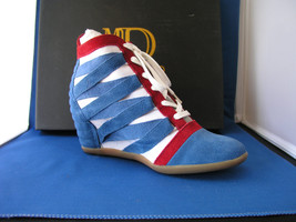 Women Wedge Zig Zag Navy Combo by BE&D Maison Dumain - $59.99