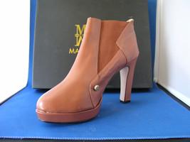 Women Designer Heels Harvey Bootie Cognacby BE&D Maison Dumain - $54.99