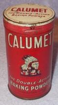Vintage Calumet Baking Powder early 6 Oz Tin - $9.95