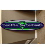 seattle seahawks surf board, surfboard decor hawaiian beach surfing beac... - $79.19