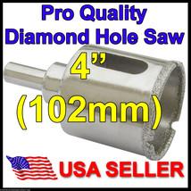 "4""in Pro Diamond Hole Saw 102mm Porcelain Granite Glass Tile Concrete Rock Stone - $95.37"