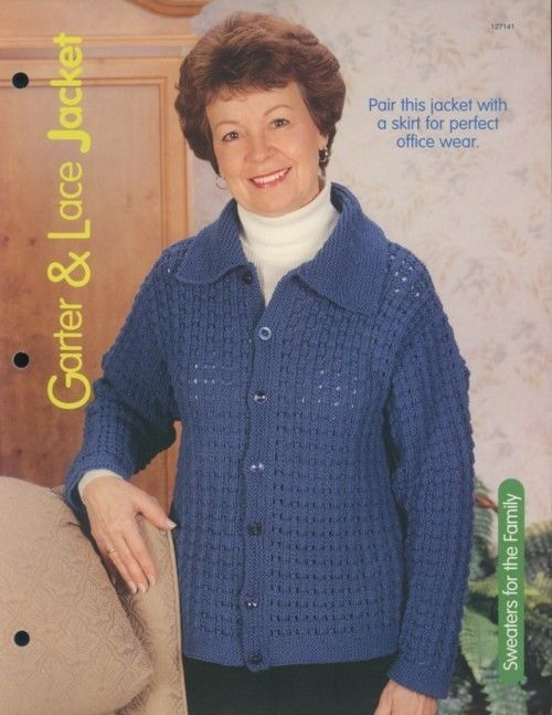 Primary image for Garter & Lace Jacket Sweater Women's Size S-XL Knitting Pattern Leaflet NEW