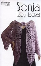 Sonja Lacy Jacket Gourmet Crochet Pattern NEW - 30 Days To Shop & Pay! S... - $8.07