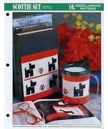 Scottie Set Dog Mug & Bookend Cover Plastic Canvas Pattern/Instructions Leaflet - $4.02