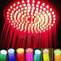 E Support Rainfall 7 Colors Changing RGB LED Shower Flash Light Head Romantic... - $19.06