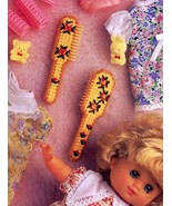 Baby Doll Brush Set Annie's NEW Plastic Canvas Pattern/Instructions Leaflet - $0.89