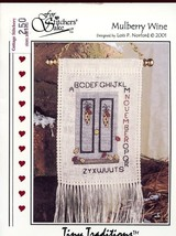 Mulberry Wine November Sampler For Stitcher's Sake Cross Stitch Mini Pat... - $2.67