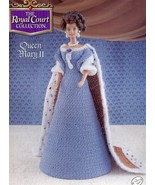 Queen Mary II Outfit for Barbie Doll Annie's Royal Court Crochet Pattern... - $4.47