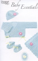 Baby Essentials Booties Afghan Newborn-3 mo Gourmet Crochet Pattern Leaf... - $8.07