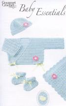 Baby Essentials Booties Afghan Newborn-3 mo Gourmet Crochet Pattern Leaflet NEW - $8.07