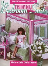 Fashion Doll Bedroom Suite For Barbie P-Canvas Pattern LEAFLET/INSTRUCTIONS Htf - $17.97