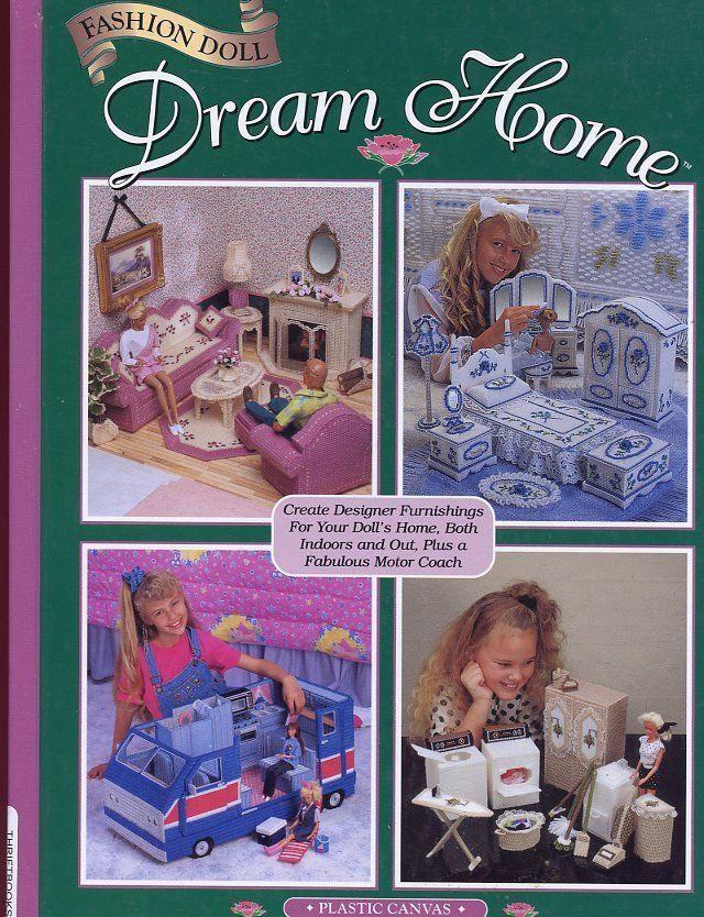 Fashion Doll Dream Home for Barbie Plastic Canvas Pattern Book