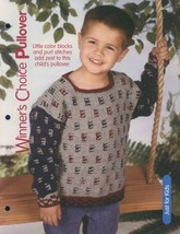 Winner's Choice Pullover Sweater Child Sz 4-12 Knitting Pattern Leaflet NEW - $2.22