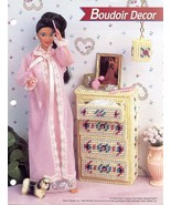 Boudoir Decor Chest & Lampshade for Barbie 7 mesh Plastic Canvas Pattern... - $1.41