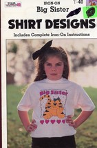 Big Sister Gick Iron-on Shirt Design for Fabric... - $1.77