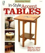 In-Style Accent Tables Plans from Woodworking For Women Magazine - $8.97
