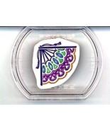 Lace Fan Corner - Fiskars Stackable Rubber Stamp NEW - $0.90