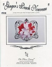 Ginger's Peach Nouve The Silver Lining NEW Cross Stitch Pattern - $7.98